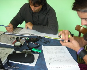 Marco Kulot e Marco Bergamo alle prese con: altimetri, barometri, bussole e libri di testo