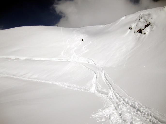 L'ultimo giorno con una bella sciata