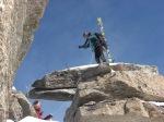 Marco Bergamo in cima alla Gran Serra