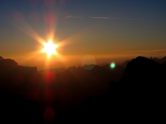 tramonto dalle tofane